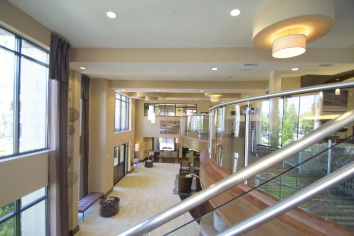 Two Story Lobby At 92 West Paces Buckhead Highrise Atlanta Luxury Apartments