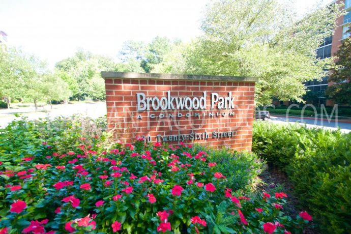 Exterior View At Brookwood Park Atlanta Highrise Condos