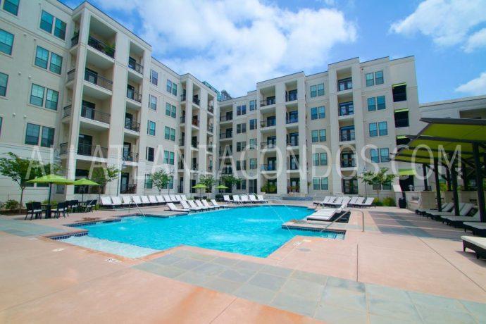 Pool Area At Elle Of Buckhead Atlanta Luxury Rentals
