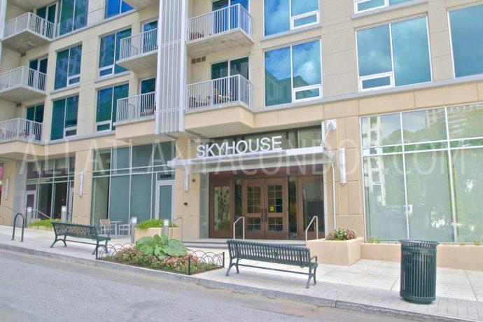 Entrance Skyhouse Highrise Buckhead Atlanta Luxury Apartment Condos