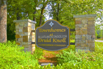 Druid Knoll Brookhaven Atlanta townhomes Condos For Sale in Atlanta 30319