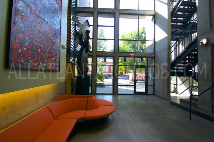 Lobby Tribute Lofts Midrise Downtown Atlanta Condos